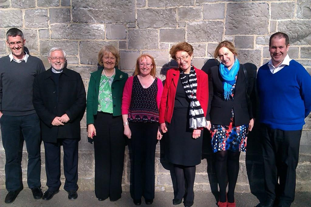 From Shankill: Liam O'Donovan, Eamonn Monson, Bernie Healy & Elaine Hogan. From Corduff: Aine Kirwin, Mary Riordan & Charles Lafferty