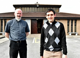 Fr. Ted Sheehan PP and Jaimie Twohig SAC