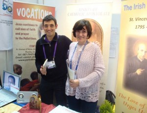 Jaimie with his Mam Clodagh @ the IEC Pallottine Stand