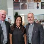 Frs. John Kelly & Derry Murphy with Susana