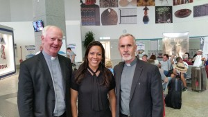 Frs. John Kelly & Derry Murphy with Susana