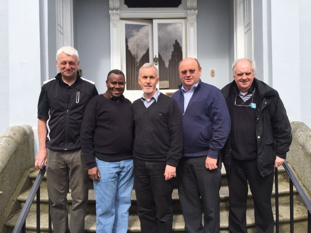 Left to right: Fr. Liam McClarey SAC (First Consultor), Fr. Martin Mareja SAC, Fr. Derry Murphy SAC (Provincial), Fr. MIchael Irwin SAC, Bro. Stephen Buckley SAC