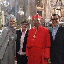 Cardinal Louis-Marie Ling Mangkhanekhoun, the Cardinal Titular of the Basilica of San Silvestro