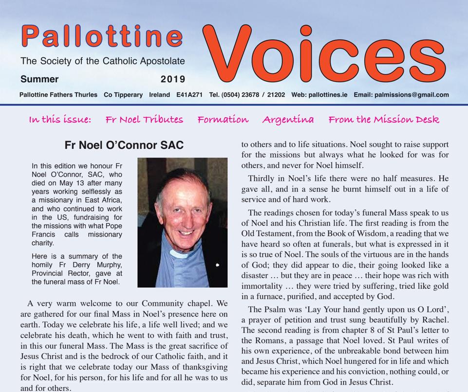 Pallottine Voices Summer 2019 -